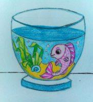Как нарисовать аквариум карандашом поэтапно