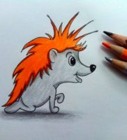 Как нарисовать ежа карандашом поэтапно
