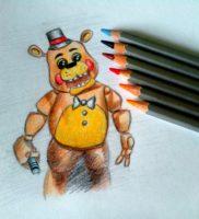 Как нарисовать Фредди карандашом поэтапно