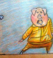 Как нарисовать Гюнтера из «Зверопой» карандашом поэтапно