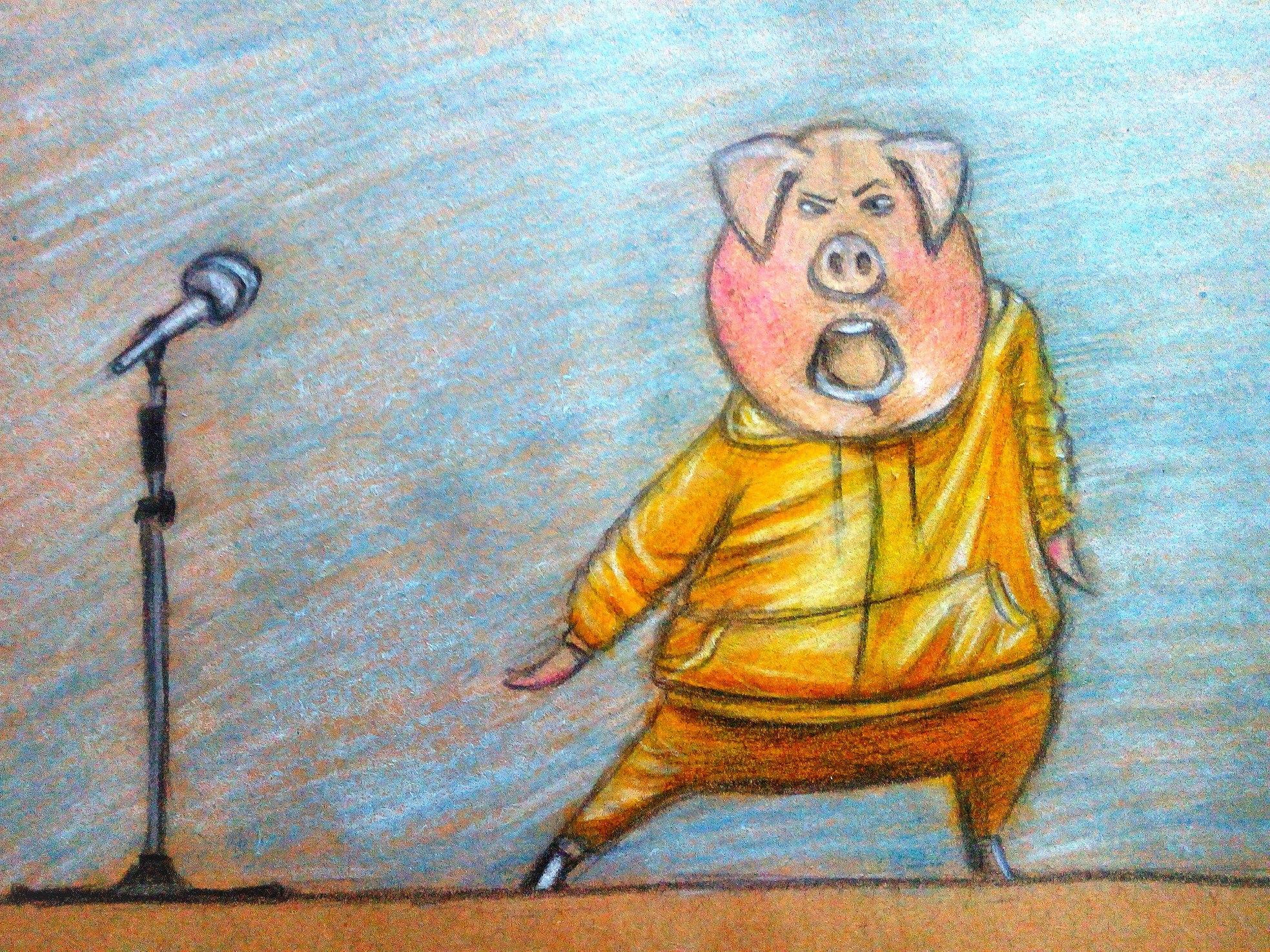 Как нарисовать Гюнтера из «Зверопой» карандашом поэтапно?