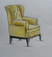 Как нарисовать кресло карандашом поэтапно