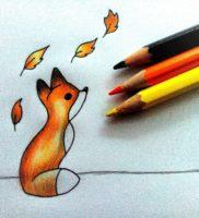 Как нарисовать лисенка карандашом поэтапно