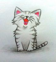 Как нарисовать котёнка карандашом поэтапно