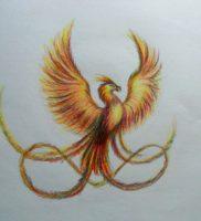 Как нарисовать феникса карандашом поэтапно