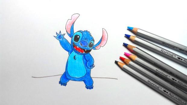 Как нарисовать Стича карандашом поэтапно