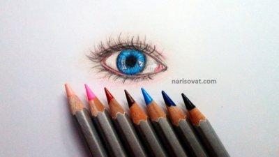 Как нарисовать глаза карандашом поэтапно?