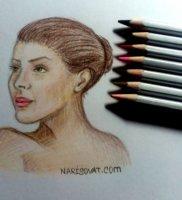 Как нарисовать портрет женщины карандашом поэтапно