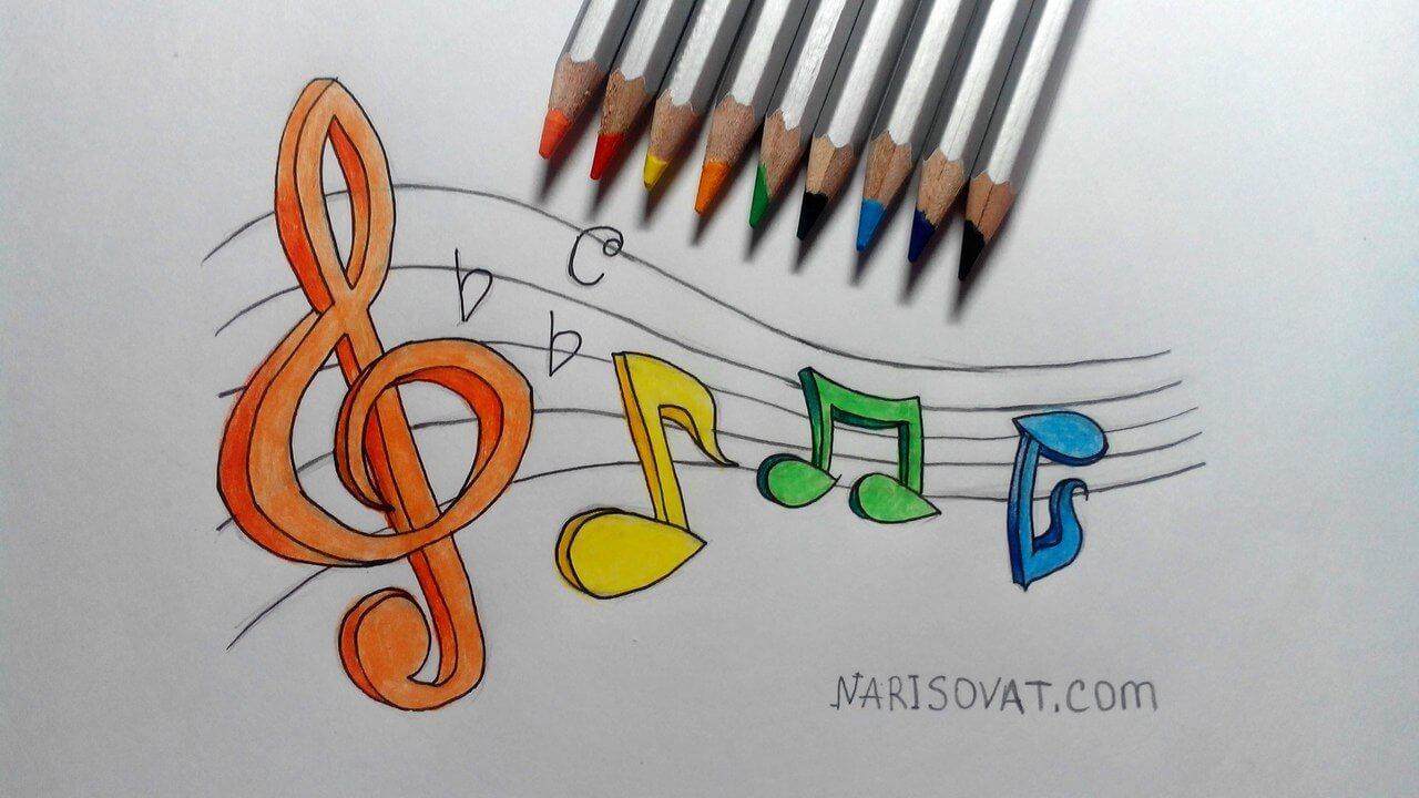 Как рисовать ноты поэтапно
