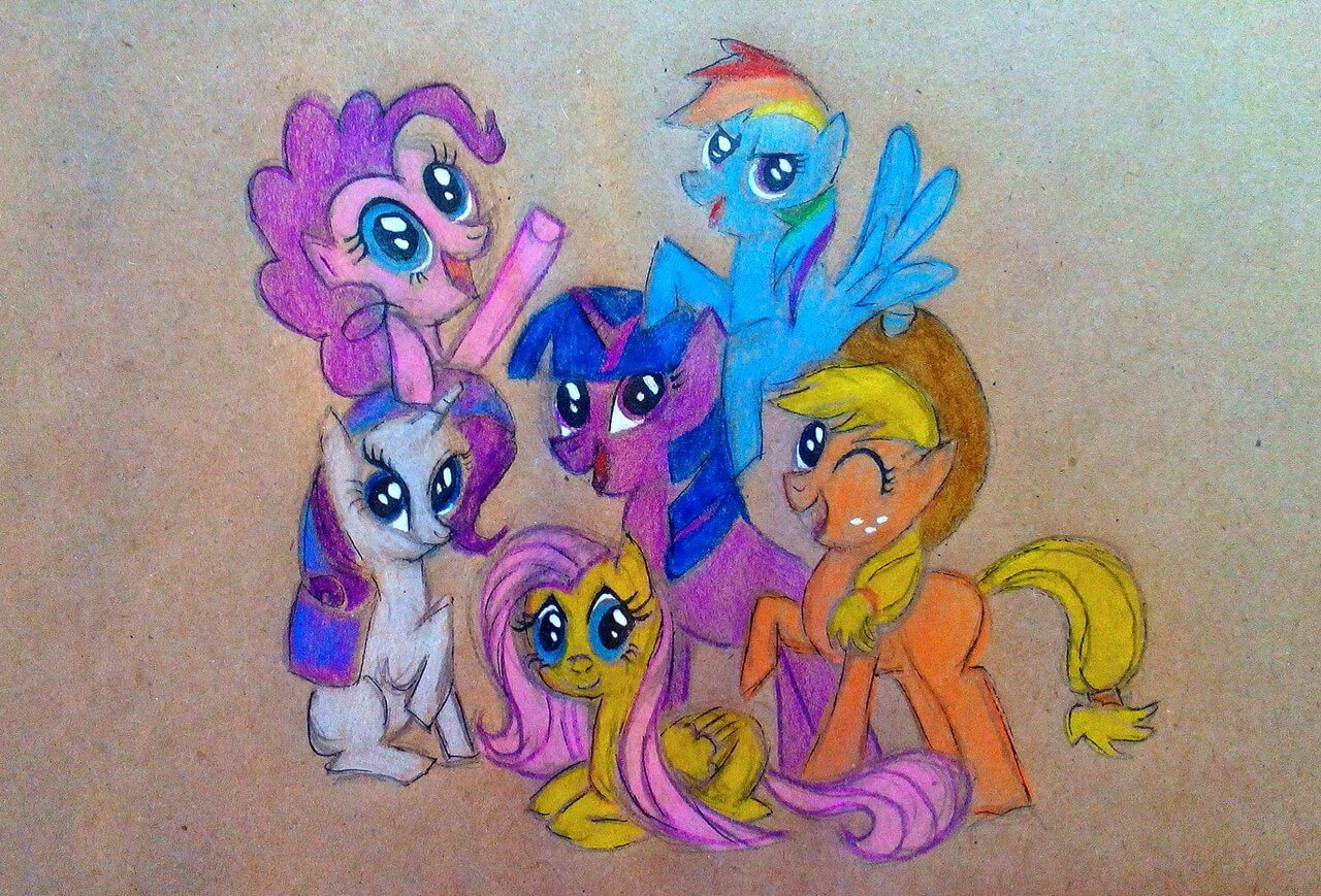 нарисованные май литл пони