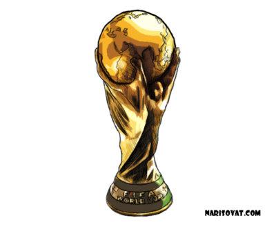 Как нарисовать кубок чемпионата мира по футболу