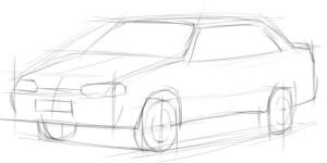 Как-нарисовать-ВАЗ-2115-карандашом-поэтапно-2