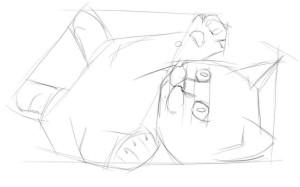 Как-нарисовать-котёнка-карандашом-поэтапно-2