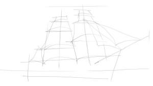 Как-нарисовать-парусник-карандашом-поэтапно-2