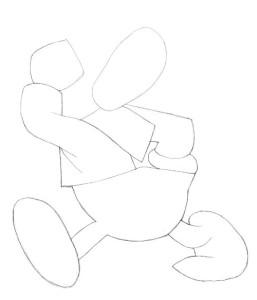 Как-нарисовать-Дональда-Дака-карандашом-поэтапно-1
