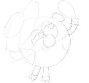 Как-нарисовать-Нюшу-карандашом-поэтапно-2