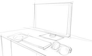 Как-нарисовать-компьютер-карандашом-поэтапно-2