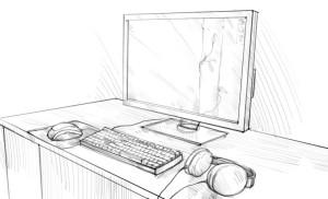 Как-нарисовать-компьютер-карандашом-поэтапно-4