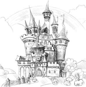 Как-нарисовать-замок-карандашом-поэтапно-4