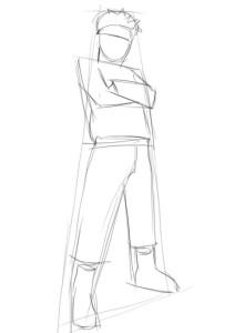Как-нарисовать-Наруто-карандашом-поэтапно-2