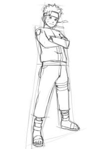 Как-нарисовать-Наруто-карандашом-поэтапно-3