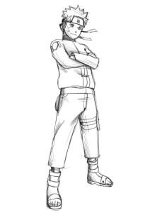 Как-нарисовать-Наруто-карандашом-поэтапно-4