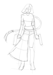 Как-нарисовать-аниме-девушку-карандашом-поэтапно-2