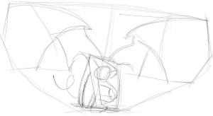 Как-нарисовать-крылья-демона-карандашом-поэтапно-2