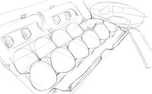 Как-нарисовать-яйца-карандашом-поэтапно-3