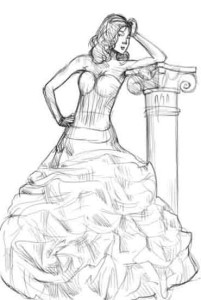 Как-рисовать-платья-карандашом-4