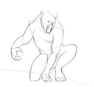 как-нарисовать-оборотня-карандашом-поэтапно-2