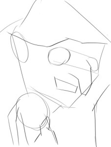 Как-нарисовать-Бабу-Ягу-карандашом-поэтапно-2