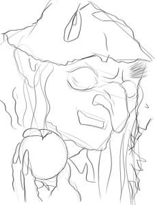 Как-нарисовать-Бабу-Ягу-карандашом-поэтапно-3