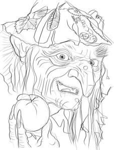 Как-нарисовать-Бабу-Ягу-карандашом-поэтапно-5