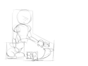 Как-нарисовать-Белоснежку-карандашом-поэтапно-2