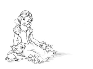 Как-нарисовать-Белоснежку-карандашом-поэтапно-5