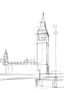Как-нарисовать-Биг-Бен-карандашом-поэтапно-2