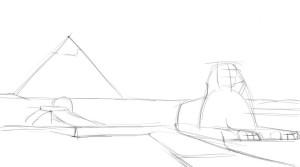 Как-нарисовать-Египет-карандашом-поэтапно-2