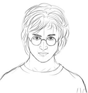 Как-нарисовать-Гарри-Поттера-карандашом-поэтапно-7