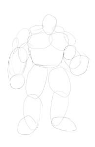 Как-нарисовать-Халка-карандашом-поэтапно-1