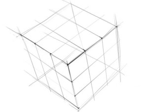 Как-нарисовать-Кубик-Рубика-карандашом-поэтапно-2