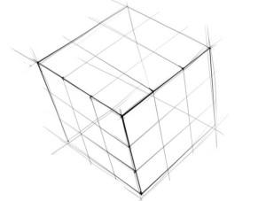 Как-нарисовать-Кубик-Рубика-карандашом-поэтапно-3