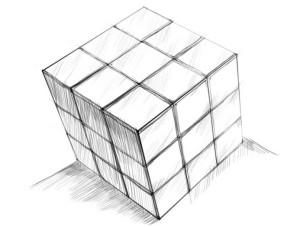 Как-нарисовать-Кубик-Рубика-карандашом-поэтапно-5