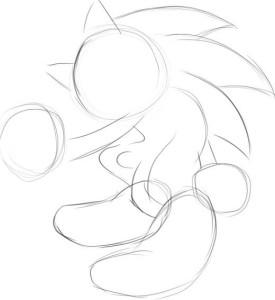 Как-нарисовать-Соника-карандашом-поэтапно-1