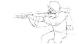 Как-нарисовать-Сталкера-карандашом-поэтапно-3