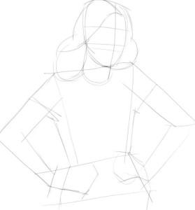 Как-нарисовать-Виолетту-карандашом-поэтапно-1