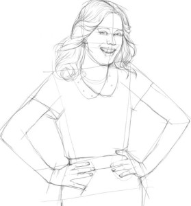 Как-нарисовать-Виолетту-карандашом-поэтапно-3