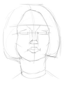 Как-нарисовать-брюнетку-карандашом-поэтапно-1