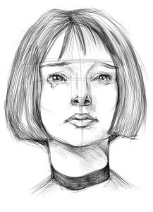 Как-нарисовать-брюнетку-карандашом-поэтапно-3
