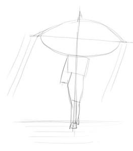 Как-нарисовать-дождь-карандашом-поэтапно-1